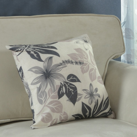 Tropical Leaves Grey Roman Blind 4