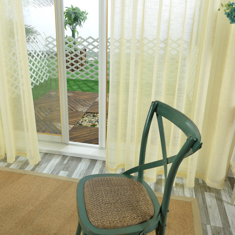 A touch of Sunshine Semi Sheer Lemon Yellow Voile Curtain 5