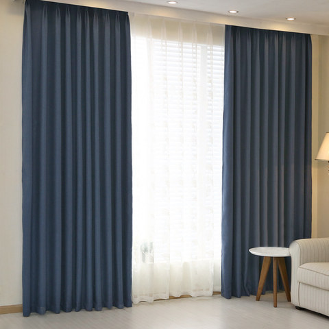 Subtle Spring Denim Navy Blue Curtain -  New 1