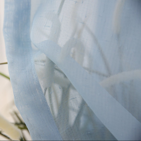 Notting Hill Baby Blue Luxury Voile Curtain 5