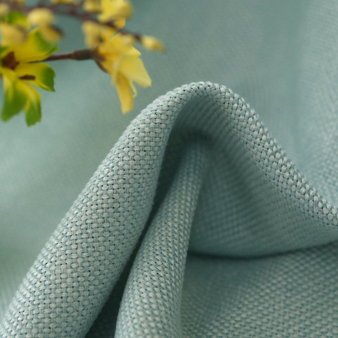 Subtle Spring Turquoise Green Curtain 8