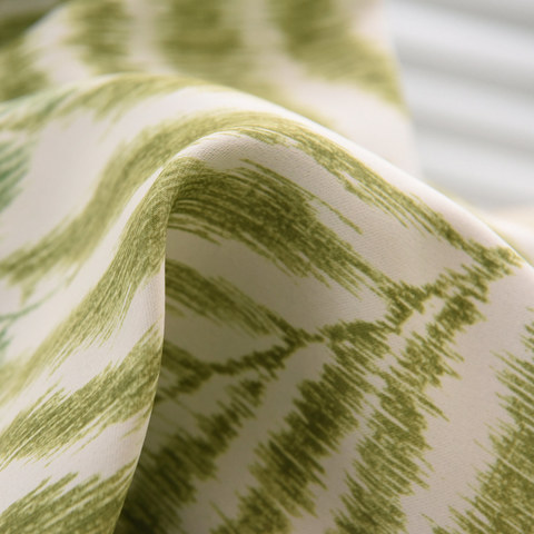 Palm Tree Leaves Green Roman Blind 4