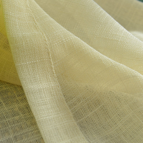 A touch of Sunshine Semi Sheer Lemon Yellow Voile Curtain 7