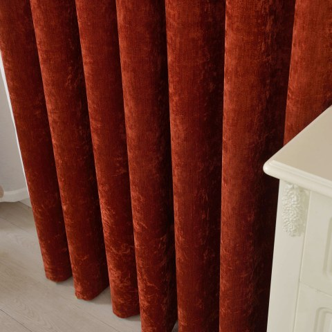 Luxury Terracotta Colour Chenille Curtain 4