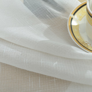 A touch of Sunshine Semi Sheer White Voile Curtain 14