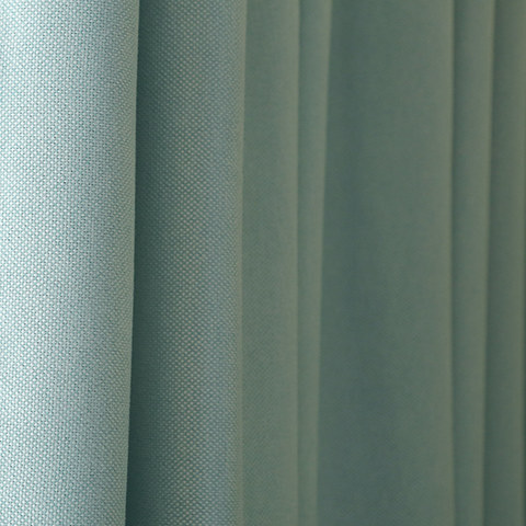 Subtle Spring Turquoise Green Curtain 5