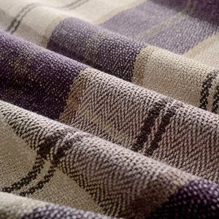 Cosy Plaid Check Light Purple Chenille Curtain 7