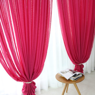Sheer Curtain Notting Hill Rose Pink Voile Curtain 1