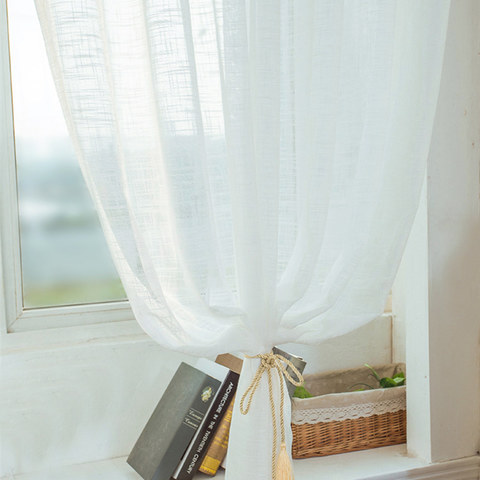 A touch of Sunshine Semi Sheer White Voile Curtain 5