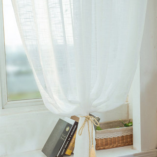 A touch of Sunshine Semi Sheer Ivory Voile Curtain 5