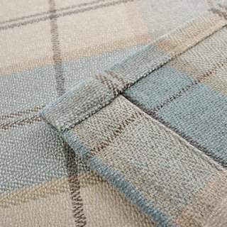 Cosy Plaid Check Light Blue Chenille Roman Blind 4