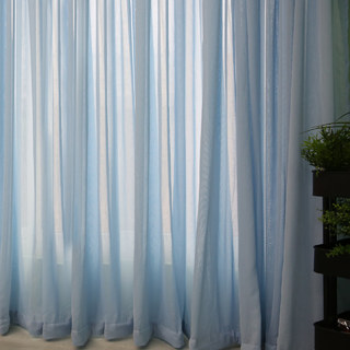 Notting Hill Baby Blue Luxury Voile Curtain 3