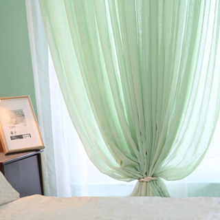 Notting Hill  Luxury Sage Green Voile Curtain 3