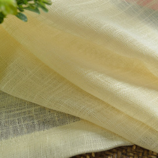 A touch of Sunshine Semi Sheer Lemon Yellow Voile Curtain 9