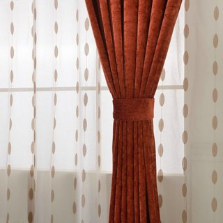 Luxury Terracotta Colour Chenille Curtain 3
