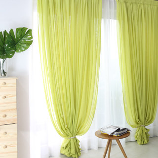 Notting Hill Lime Green Luxury Voile Curtain 3