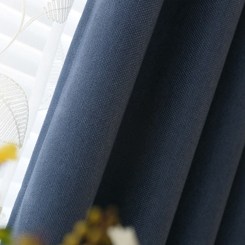 Subtle Spring Denim Navy Blue Curtain -  New 6