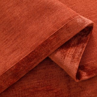 Luxury Terracotta Colour Chenille Curtain 7