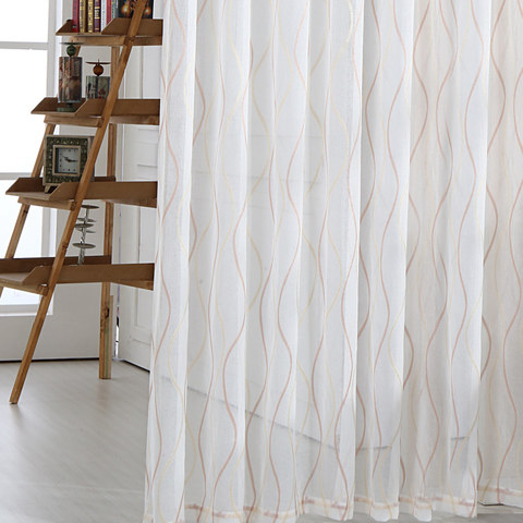 Wave Some Magic Ivory Voile Curtain 3