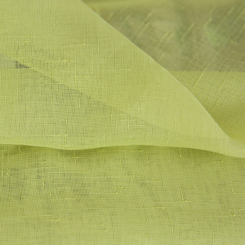 Notting Hill Lime Green Luxury Voile Curtain 5