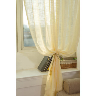 A touch of Sunshine Semi Sheer Lemon Yellow Voile Curtain 4