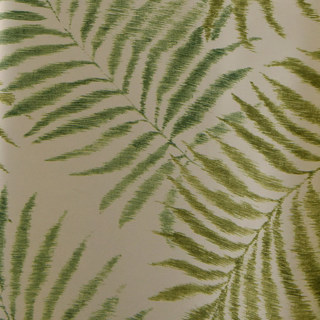 Palm Tree Leaves Green Roman Blind 2