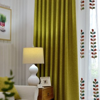 City Style Olive Green Curtain 1