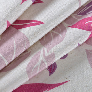 Tropical Leaves Purple Pink Roman Blind 1