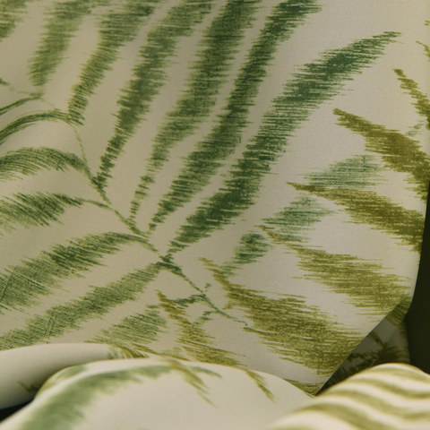 Palm Tree Leaves Green Roman Blind 3