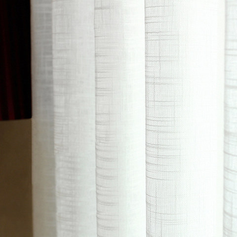A touch of Sunshine Semi Sheer Ivory Voile Curtain 1