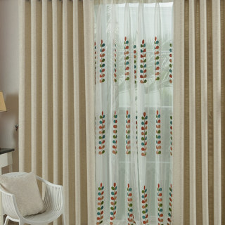 City Style Cream Curtain 1