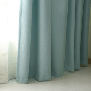 Subtle Spring Turquoise Green Curtain 4