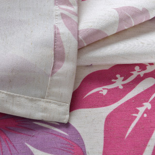 Tropical Leaves Purple Pink Roman Blind 3