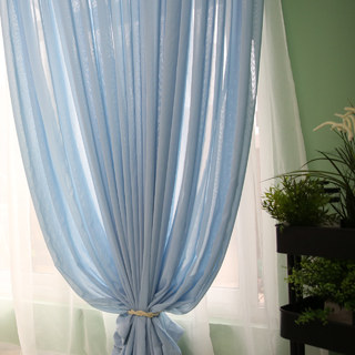 Notting Hill Baby Blue Luxury Voile Curtain 2