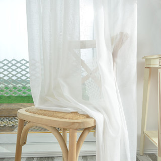A touch of Sunshine Semi Sheer White Voile Curtain 6