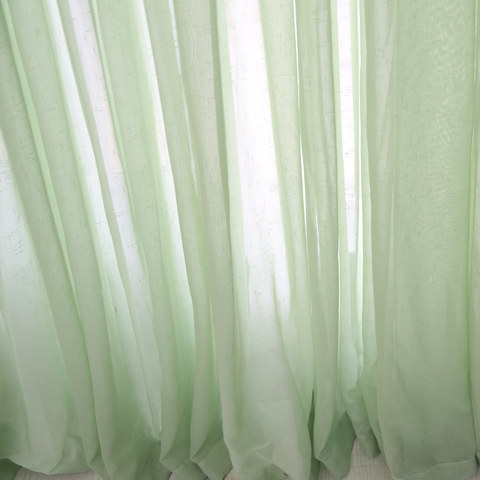 Notting Hill  Luxury Sage Green Voile Curtain 4