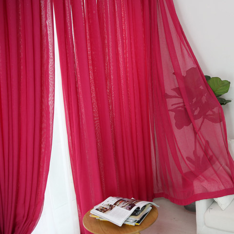 Sheer Curtain Notting Hill Rose Pink Voile Curtain 2