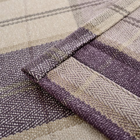 Cosy Plaid Check Light Purple Chenille Roman Blind 3