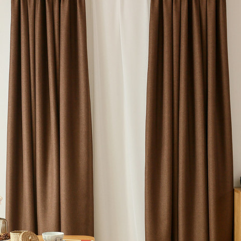 Serene Moment Dark Brown Curtain 1