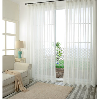 Notting Hill White Luxury Voile Curtain 1