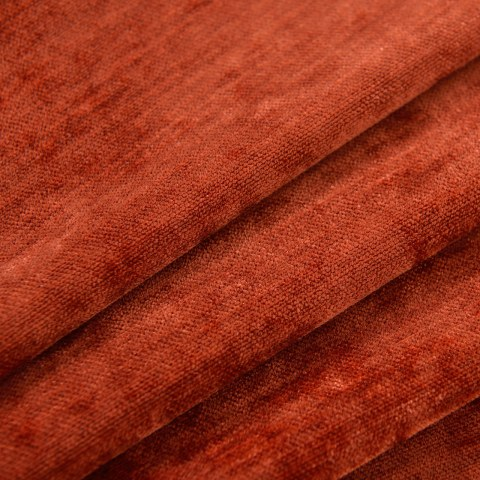 Luxury Terracotta Colour Chenille Curtain 5