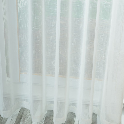 A touch of Sunshine Semi Sheer Ivory Voile Curtain 2