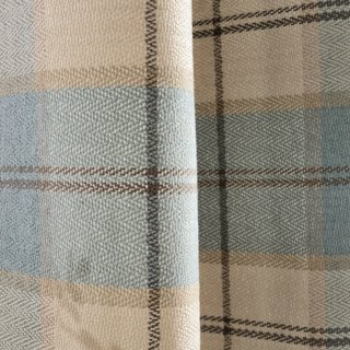 Cosy Plaid Check Light Blue Chenille Roman Blind 3