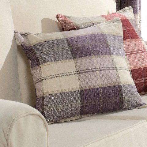 Cosy Plaid Check Light Purple Chenille Roman Blind 4