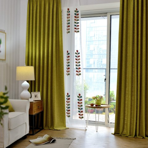 City Style Olive Green Curtain 2