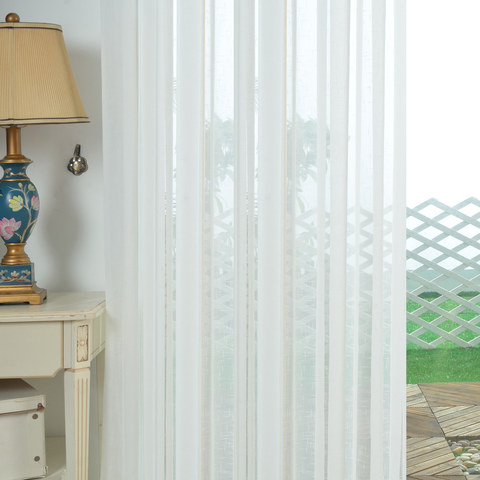 A touch of Sunshine Semi Sheer White Voile Curtain 10