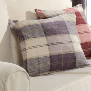 Cosy Plaid Check Light Purple Chenille Curtain 8