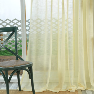 A touch of Sunshine Semi Sheer Lemon Yellow Voile Curtain 2