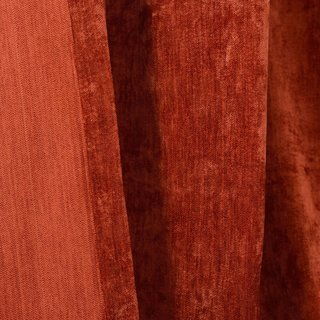 Luxury Terracotta Colour Chenille Curtain 6