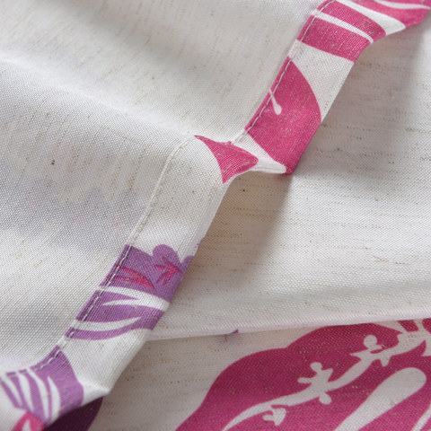 Tropical Leaves Purple Pink Roman Blind 4